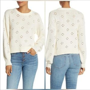 Madewell | Floral Pointelle Pullover Sweater